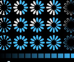 Blue Loading Buttons vector
