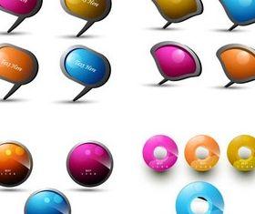 Shiny Elements graphic vectors