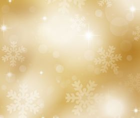 Gold snowflakes and stars background vectors graphic