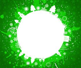 Green grunge christmas background vectors material