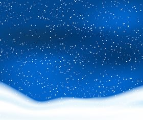 Snowy sky background design vectors