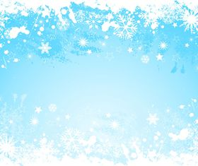 Snowflake grunge background vector