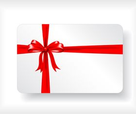Gift card with ribbon design vector