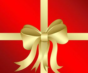 Gift golden ribbon design vector