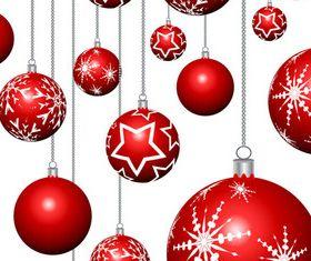 Christmas decor ball creative vector
