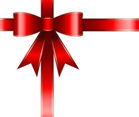 Red ribbon gift box vector