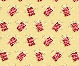 Gift box pattern vector