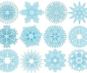 Snowflake patterns vectors