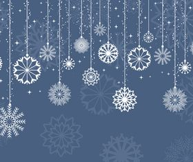 Christmas snowflake ornaments background design vector