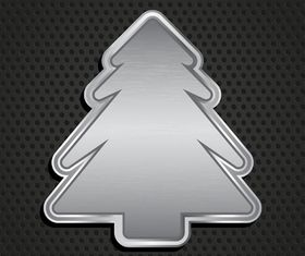 Metallic christmas tree background vector