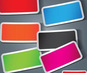 Colored stickers vector design