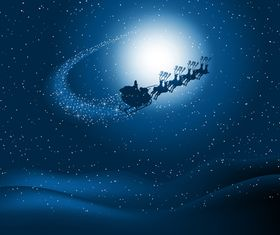 Santin night sky set vector