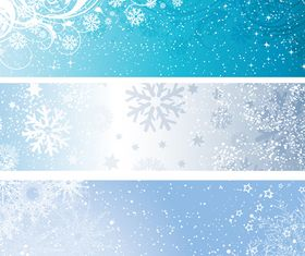 Winter banners shiny vector