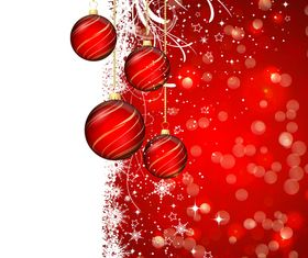 Red christmas bauble vector