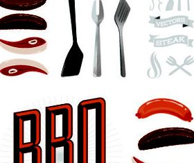 BBQ elements illustration design vector