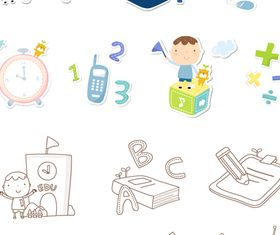 School icons 1 vector