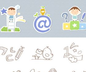 School icons 2 vector