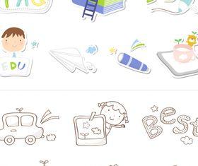 School icons 3 vector