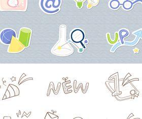 School icons 5 vector