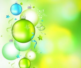 Green Christmas ball vectors graphics