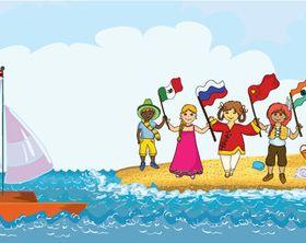 World Children creative vector