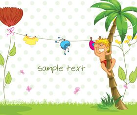 kids cute background design vector