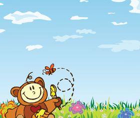 Cartoon Bear background vector