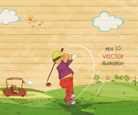 play golf illustration vectors