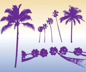 Palm Trees Silhouettes vectors graphic