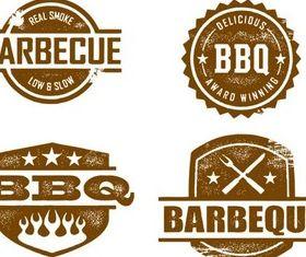 Food Grunge Stamps vectors graphics
