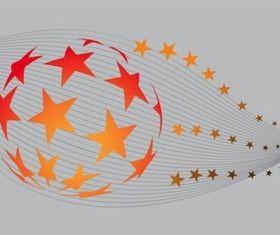 Stars Globe vector material