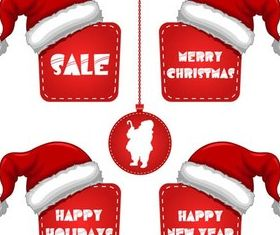 X-mas Discount Elements vector