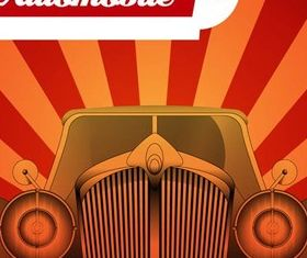 Retro Car Backgrounds vector