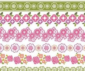 Floral Ornate Borders design vector
