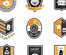 Bakery Labels vectors
