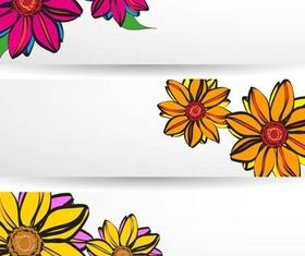 Flowers Banners vector