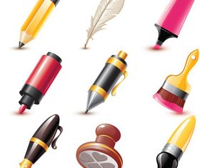 Pen vector graphic