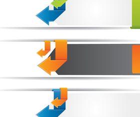 Arrow Banner creative vector
