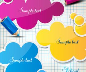 Pencil and text cloud vector