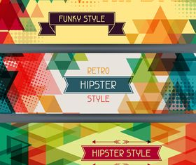 Retro hipster banner 4 vector graphic