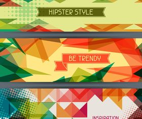 Retro hipster banner 5 vector graphic