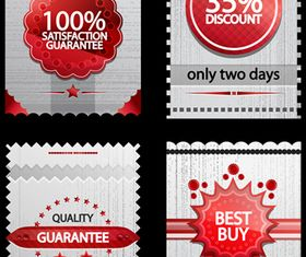 Ribbon sale labels 5 vector