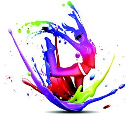 Color paint free 1 vector