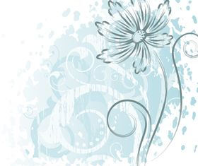 Hand drawn flower garbage design vector