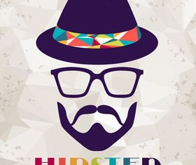 Vintage hipster background 2 vector
