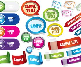 Web button and sticker vector