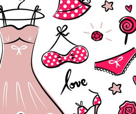 Hand drawn Dress vector