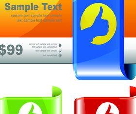 Shiny Corner labels 4 vector graphics