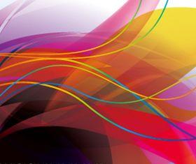 Colored flow line background set vector