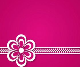 Paper flower background 1 vector graphics